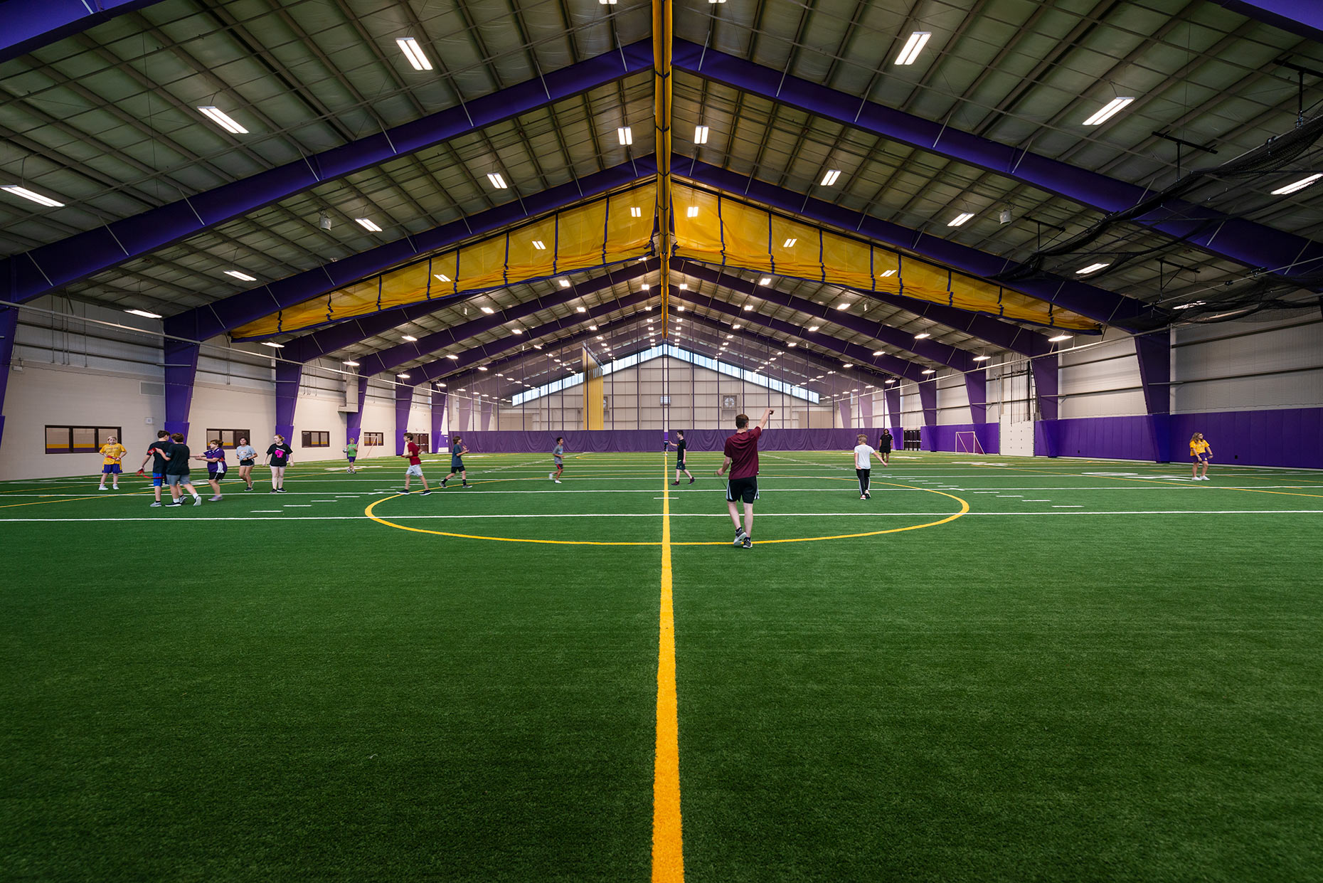 Elkhorn High School indoor field in Wisconsin