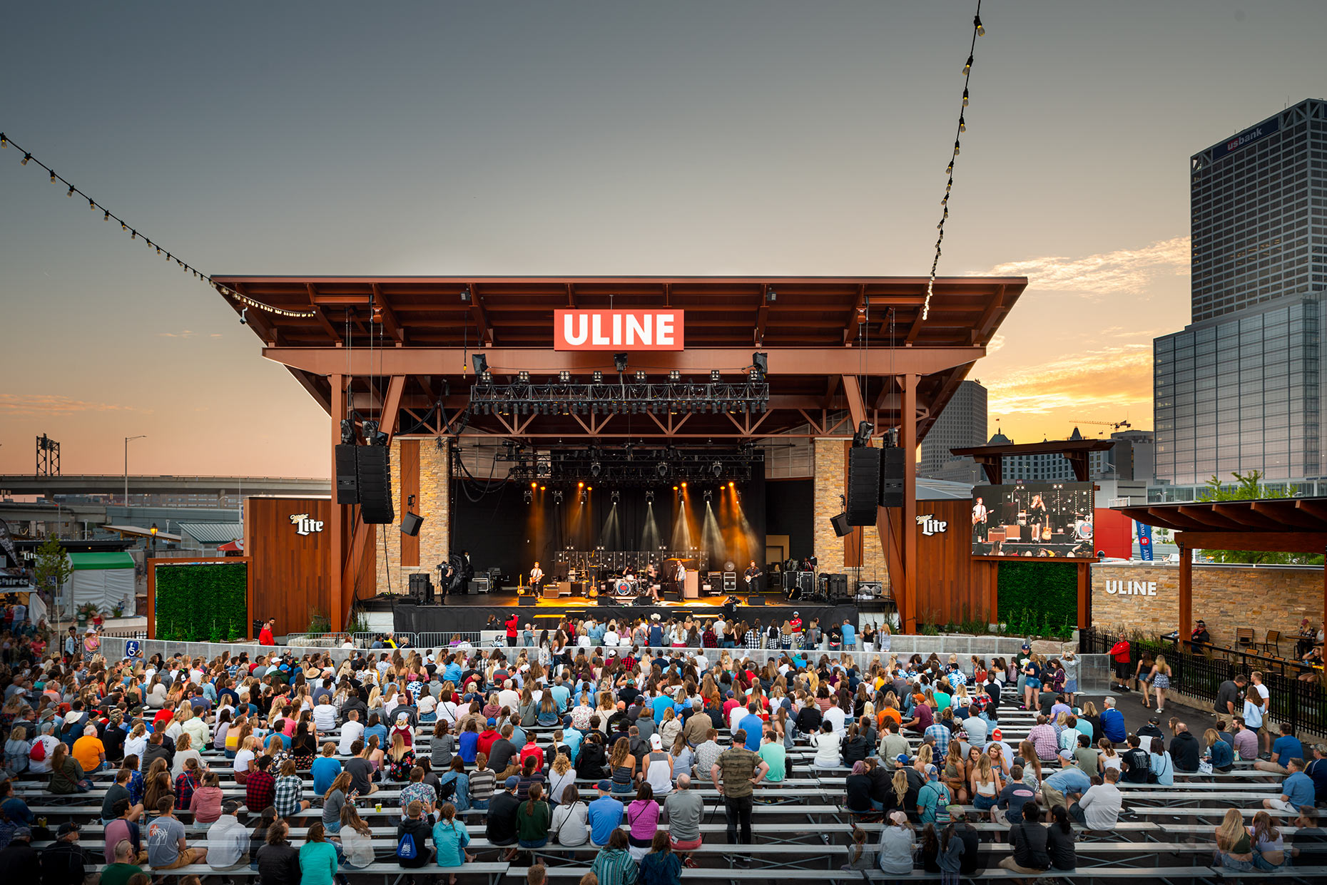 Uline Warehouse Stage at Summerfest in Milwaukee
