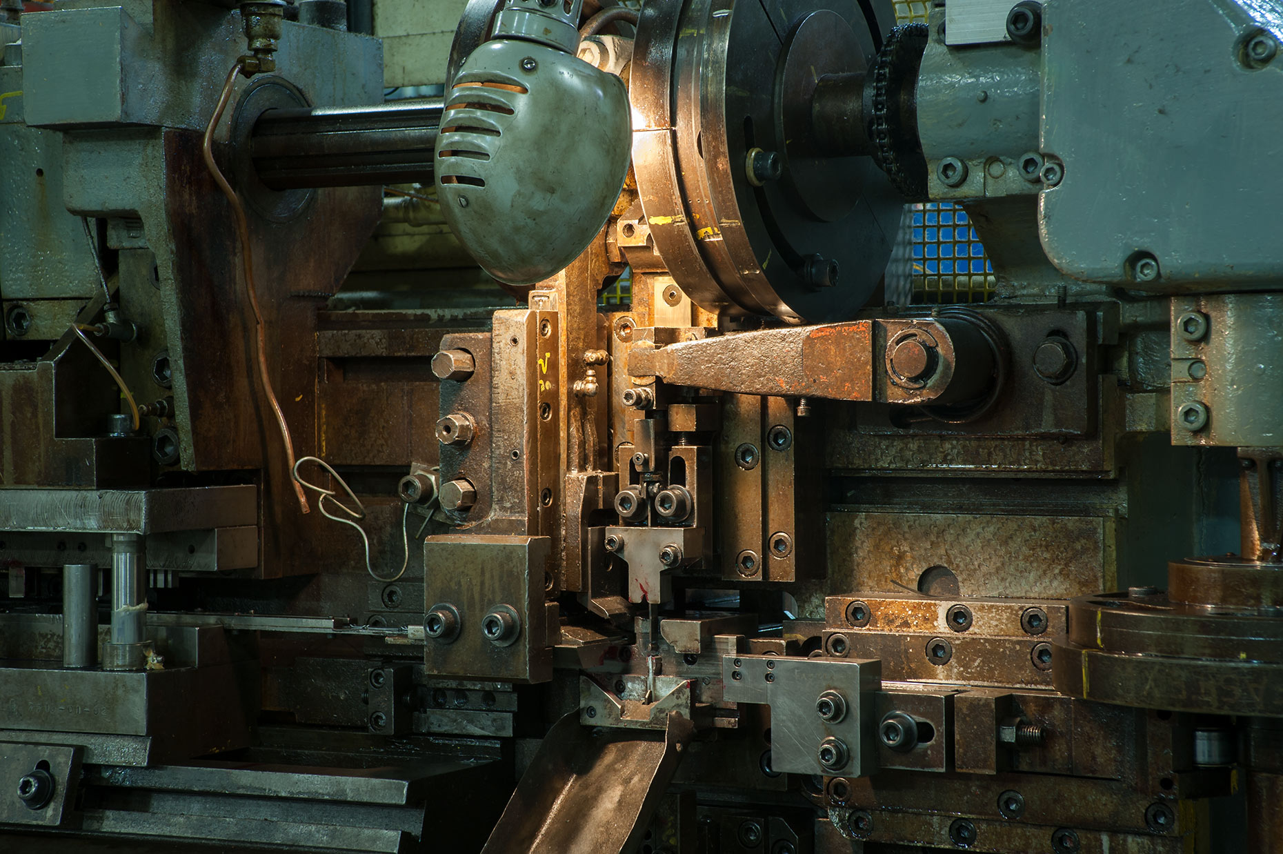 Machinery at Jason Inc. manufacturing plant