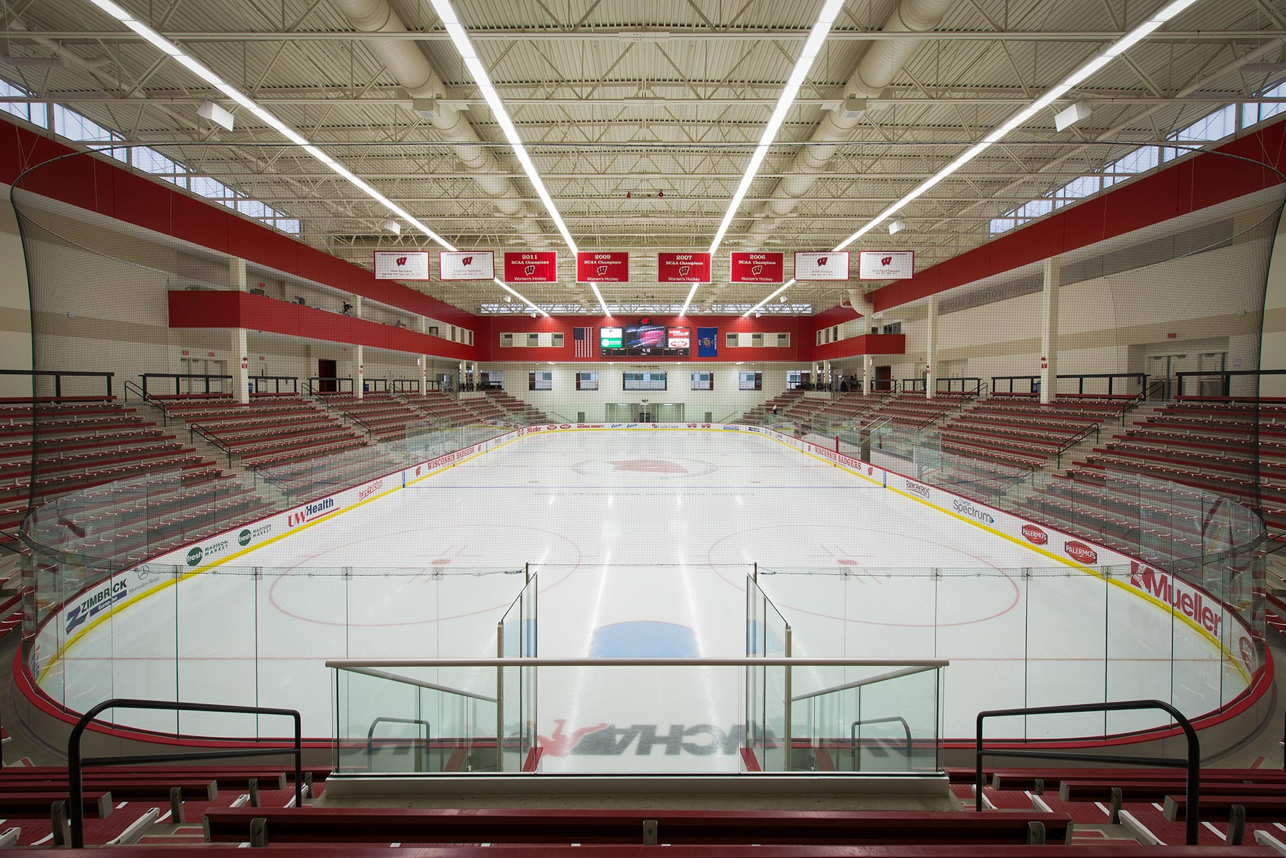 LaBahn ice hockey arena for Wisconsin Badgers at University of Wisconsin-Madison