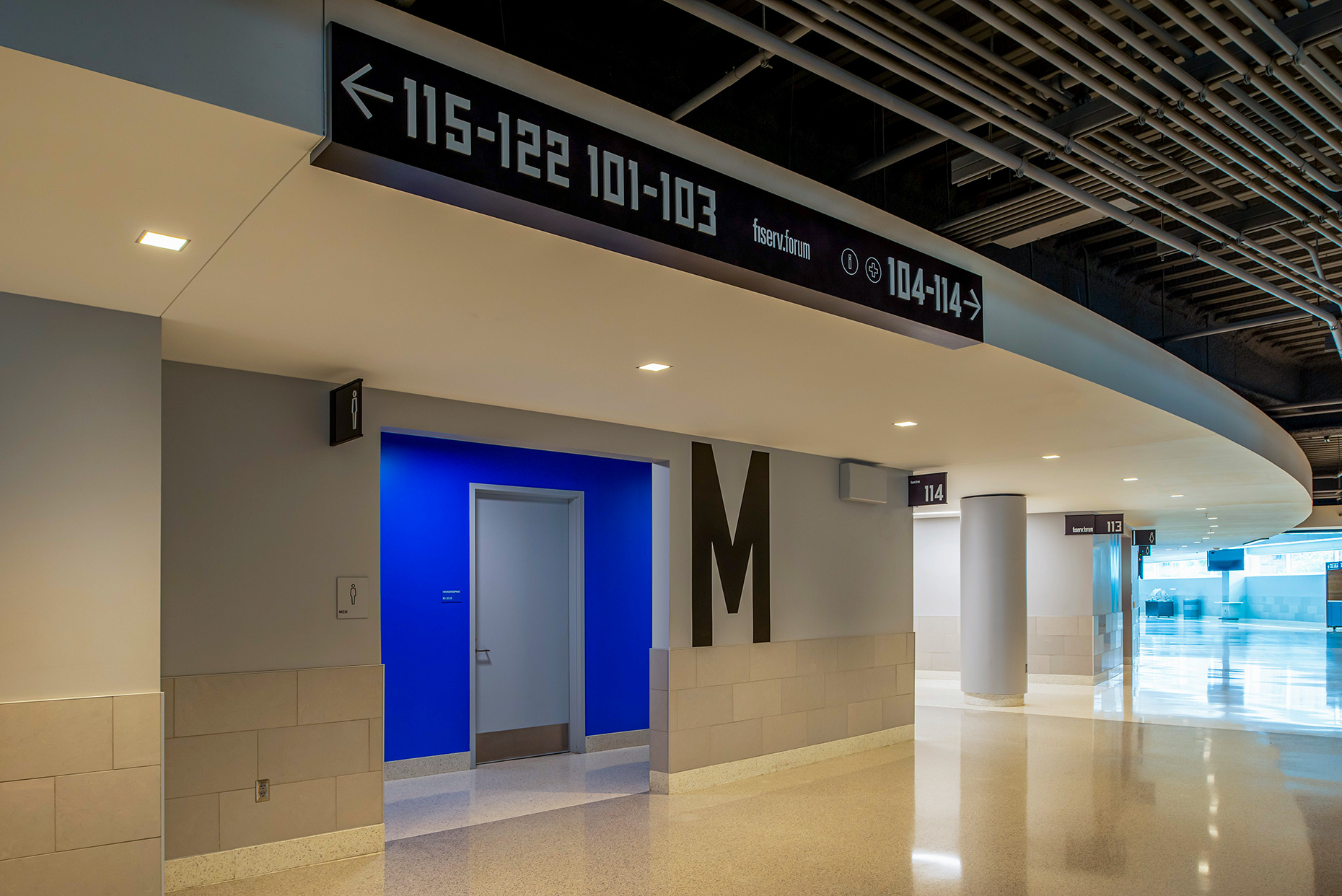 Milwaukee Bucks, Fiserv Forum, wayfinding