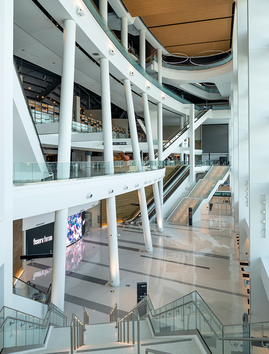 Milwaukee Bucks, Fiserv Forum stadium interior