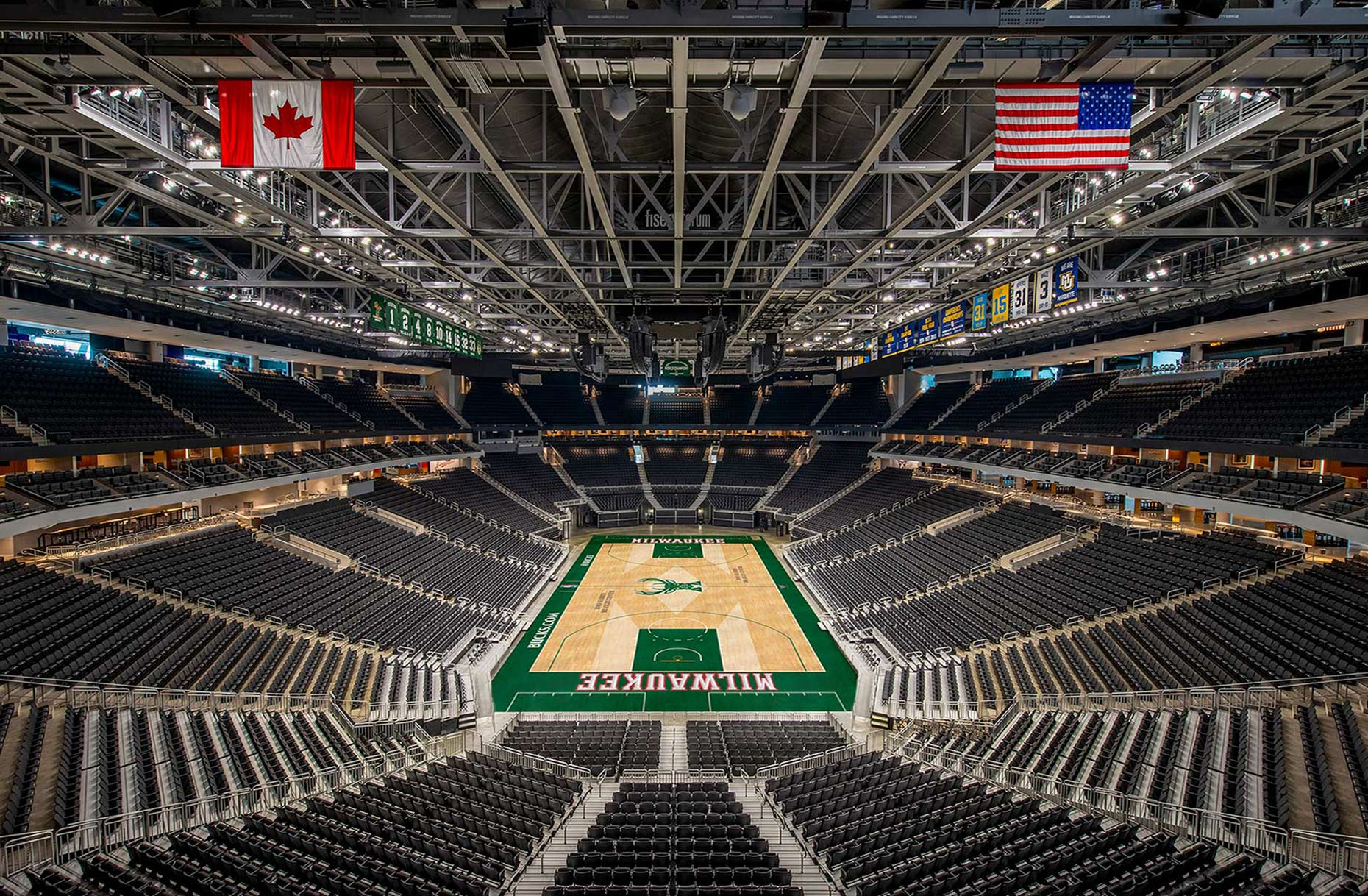 Milwaukee Bucks Stadium, Fiserv Forum, interior